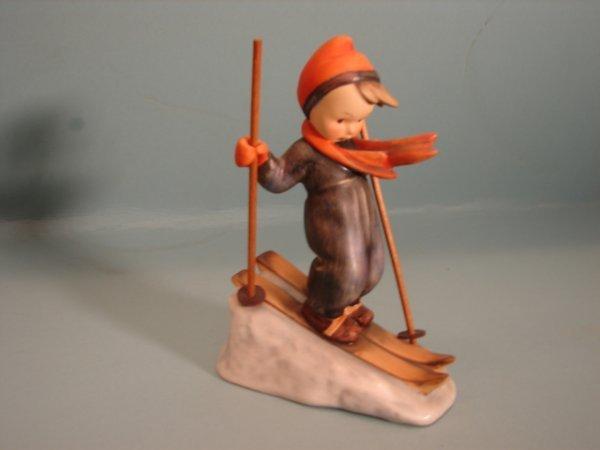 "3072: Hummel Figurine, ""Skier,"" mold # 59, V with a ful"