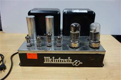 McIntosh MC 60, stereo tube power amp, missing