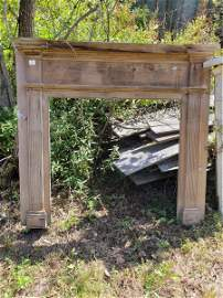 """Wooden Fireplace mantle; opening 43.5""""l x 59""""h x 63""""w"""