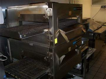 """59: Lincoln Double Stacked Conveyor Oven, 18""""W belt, 3"""""""