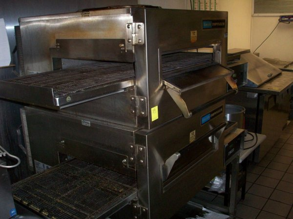 "59: Lincoln Double Stacked Conveyor Oven, 18""W belt, 3"""