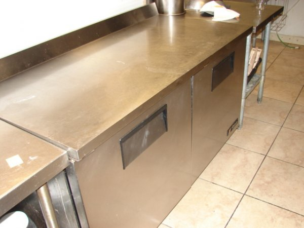706: Work Top Refrigerator, Stainless Steel counter , b