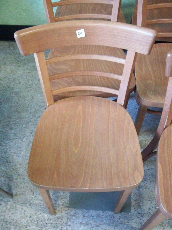 1019: Wood Dinning Chair, Cherry Finish