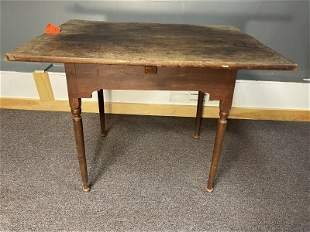 Tavern Table maple, button foot, cut out brackets, top