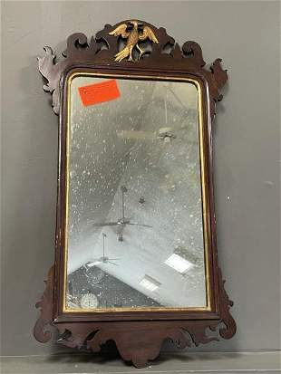 Chippendale Mirror with carved gold Phoenix bird,