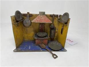 Diorama Miniature Kitchen Tin, assorted mini kitchen