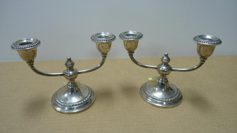 5: Pair - Candlesticks, Double Arm, Weighted, Stainless
