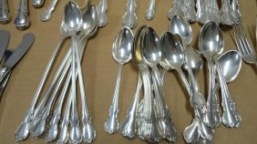 Flatware Set, Sterling Silver, French Provincial, 8