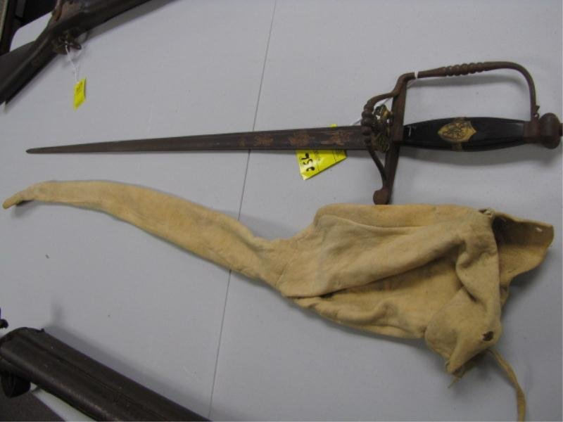 256: Sword - Metal Guard w/ Lion - Engraved on Blade &