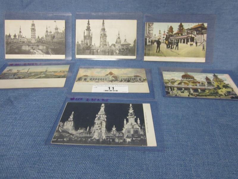 (7) Rare Post Card Lot - Coney Island