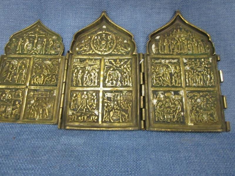 """Triptych Brass, 6"""" x 11"""""""
