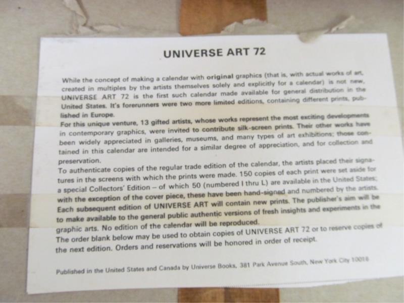 (2) Calendars, 1972 - Universe - 4
