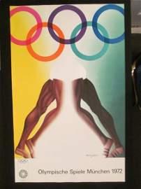 (5) Olympic Art Posters, By Allan Jones, England, 16