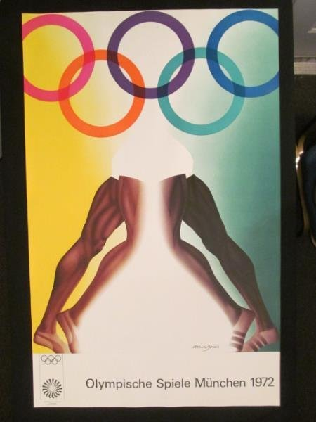 (5) Olympic Art Posters, By Allan Jones, England, 16