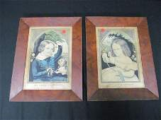 """(2) Lithograph, """"The Little Favorite"""" & """"My Little Play"""