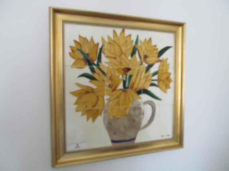 Artist Bailnig, Untitled (Flowers in a Vase), Ceramic