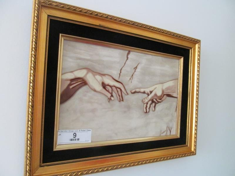 Artist Unknown, Untitled (Two Hands), Ceramic Tiles,