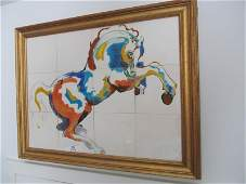 Artist Unknown, Untitled (Horse), Ceramic Tiles, Not