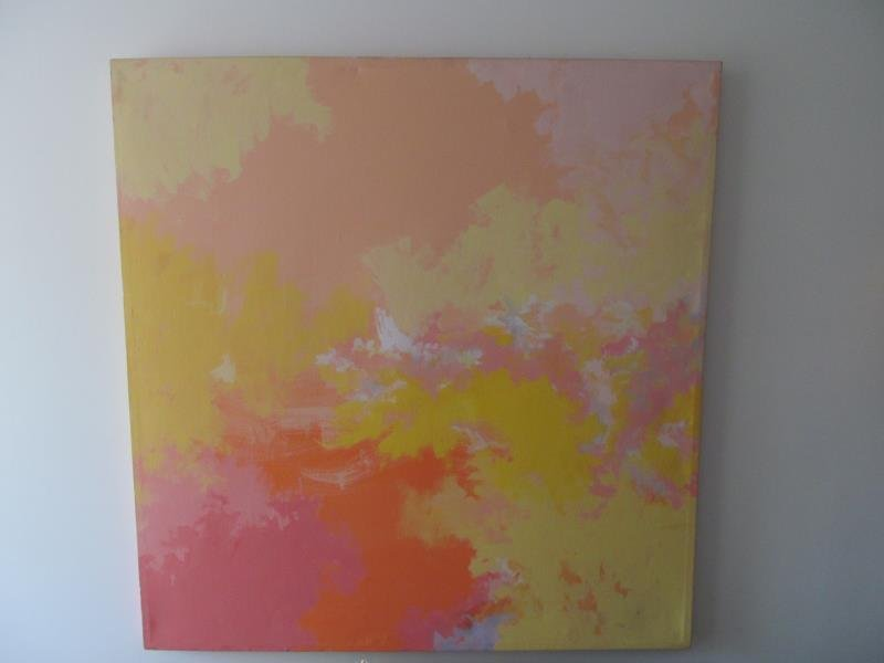 Artist Stekla, Untitled (Abstract Colors), Oil on