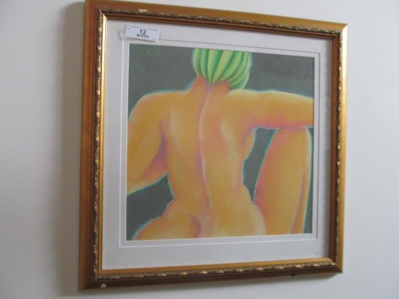 Artist Carol Cook, Untitled (Female's Back), Pastel,