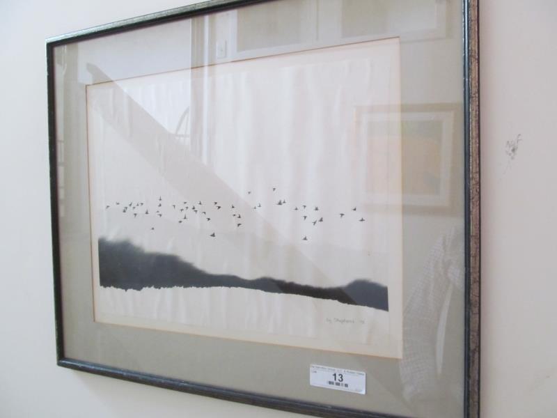 Artist Liz Shepard, Untitled (Landscape with the Birds