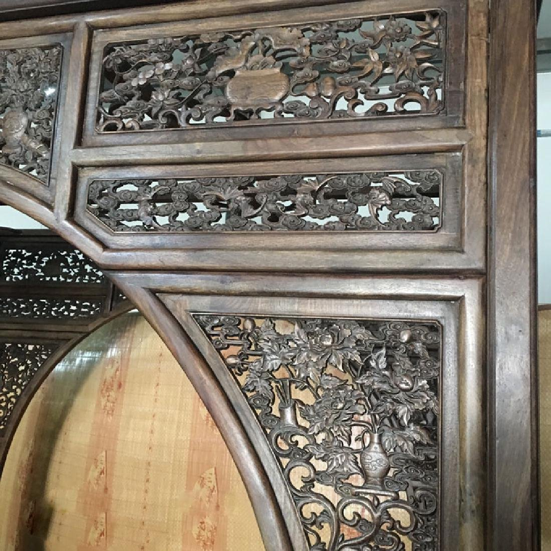 CHINESE QING DYNASTY HUANGHUALI MOON BED FRAME - 4