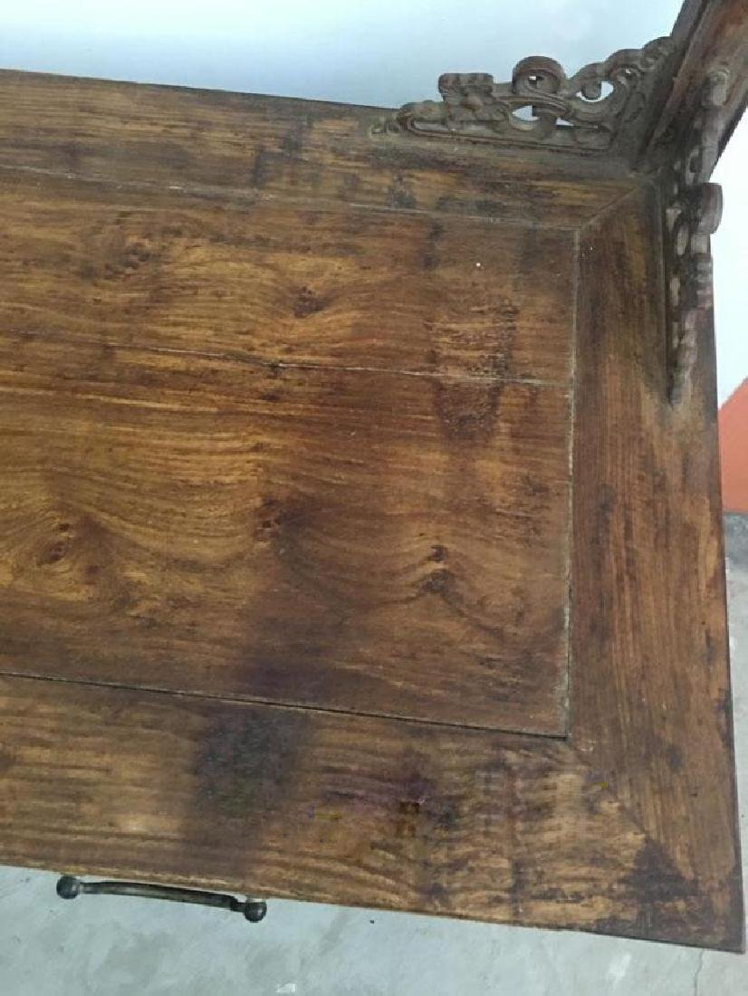 CHINESE QING DYNASTY HUANGHUALI CLOTH HANGER CABINET - 2