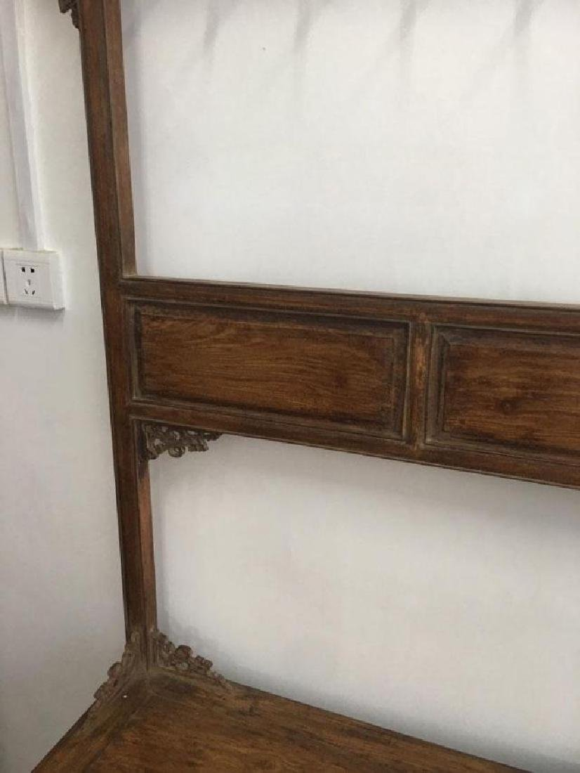 CHINESE QING DYNASTY HUANGHUALI CLOTH HANGER CABINET - 3