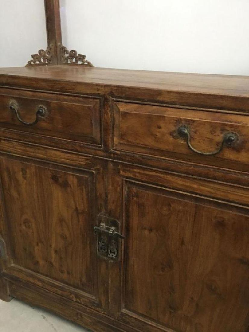 CHINESE QING DYNASTY HUANGHUALI CLOTH HANGER CABINET - 4