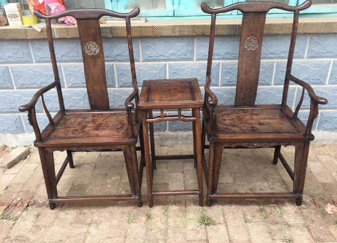 CHINESE QING DYNASTY HUANGHUALI GUANMAO CHAIR