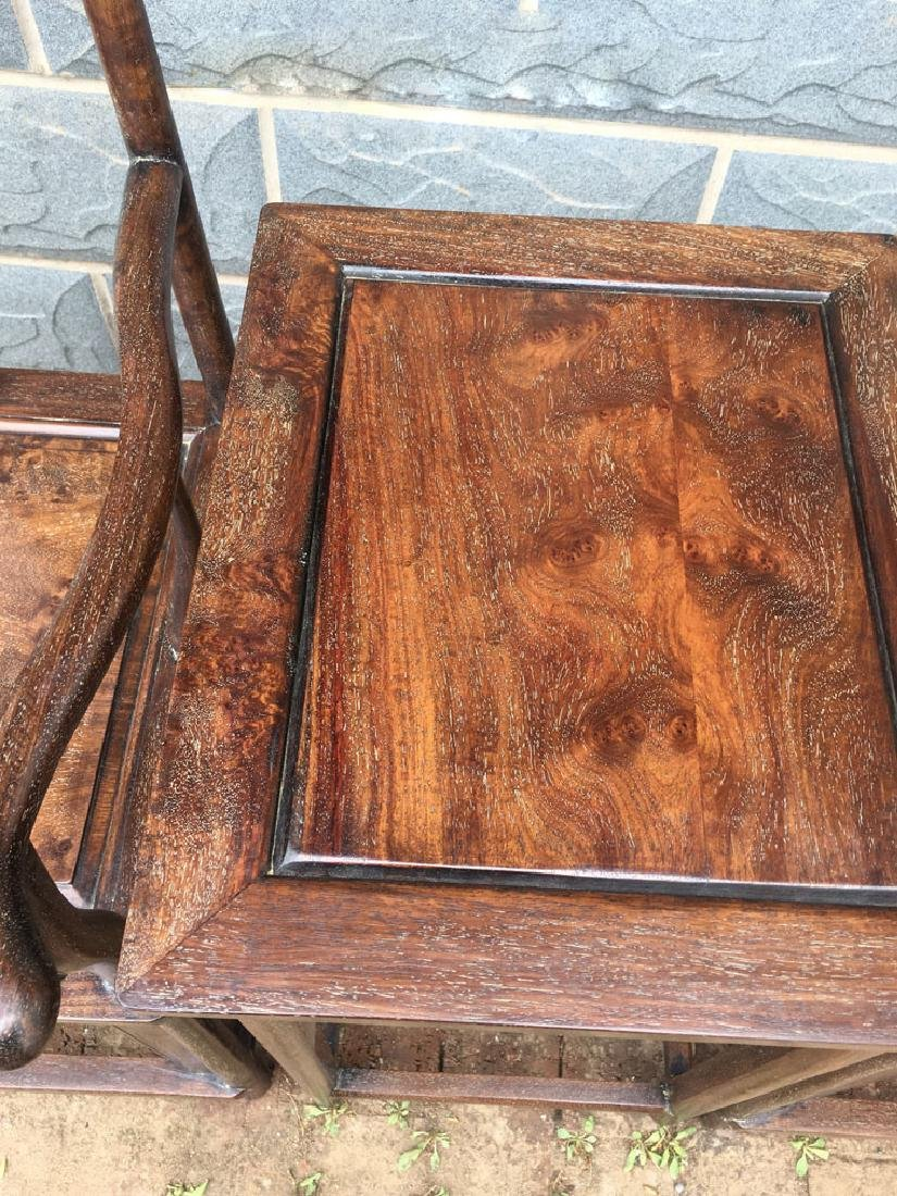 CHINESE QING DYNASTY HUANGHUALI GUANMAO CHAIR - 2