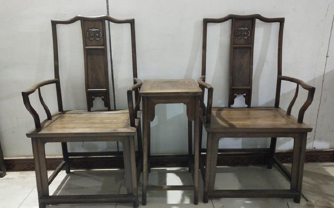 CHINESE QING DYNASTY OLD HAI NAN HUANGHUALI GUANMAO