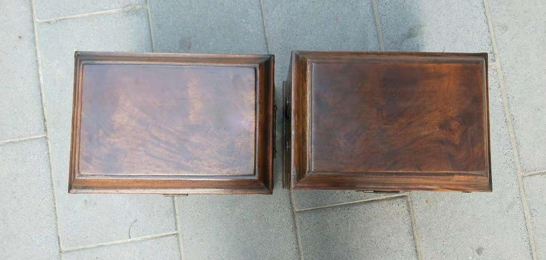 CHINESE QING DYNASTY PAIR OF HUANGHUALI JEWELRY BOX - 2