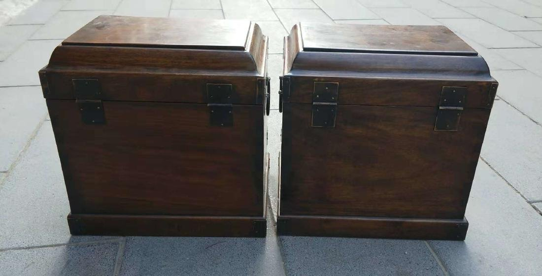 CHINESE QING DYNASTY PAIR OF HUANGHUALI JEWELRY BOX - 3