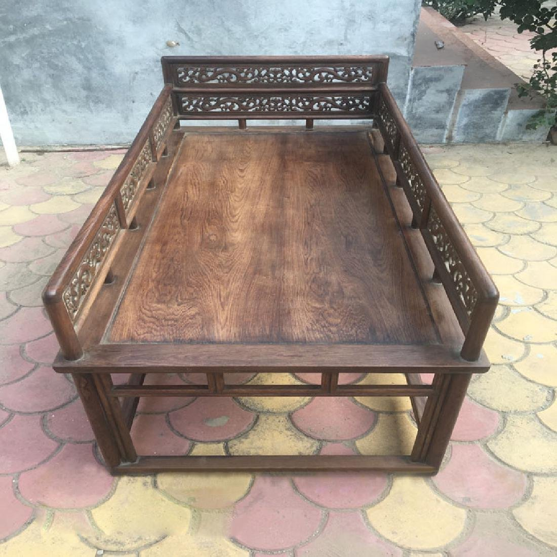 CHINESE QING DYNASTY HUANGHUALI LUO HAN BED SLEEPING