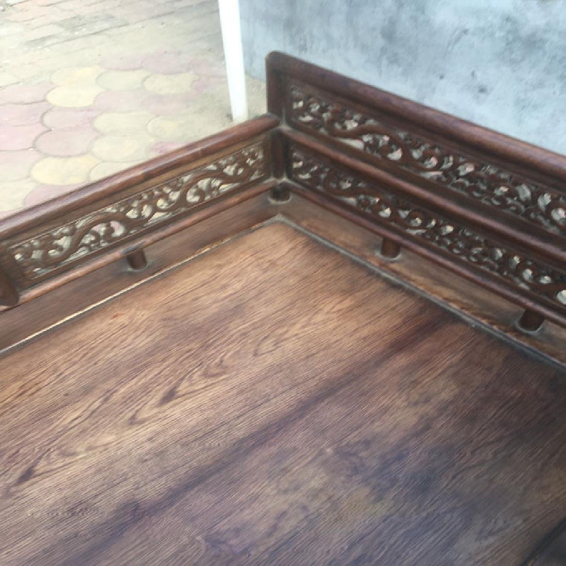 CHINESE QING DYNASTY HUANGHUALI LUO HAN BED SLEEPING - 3