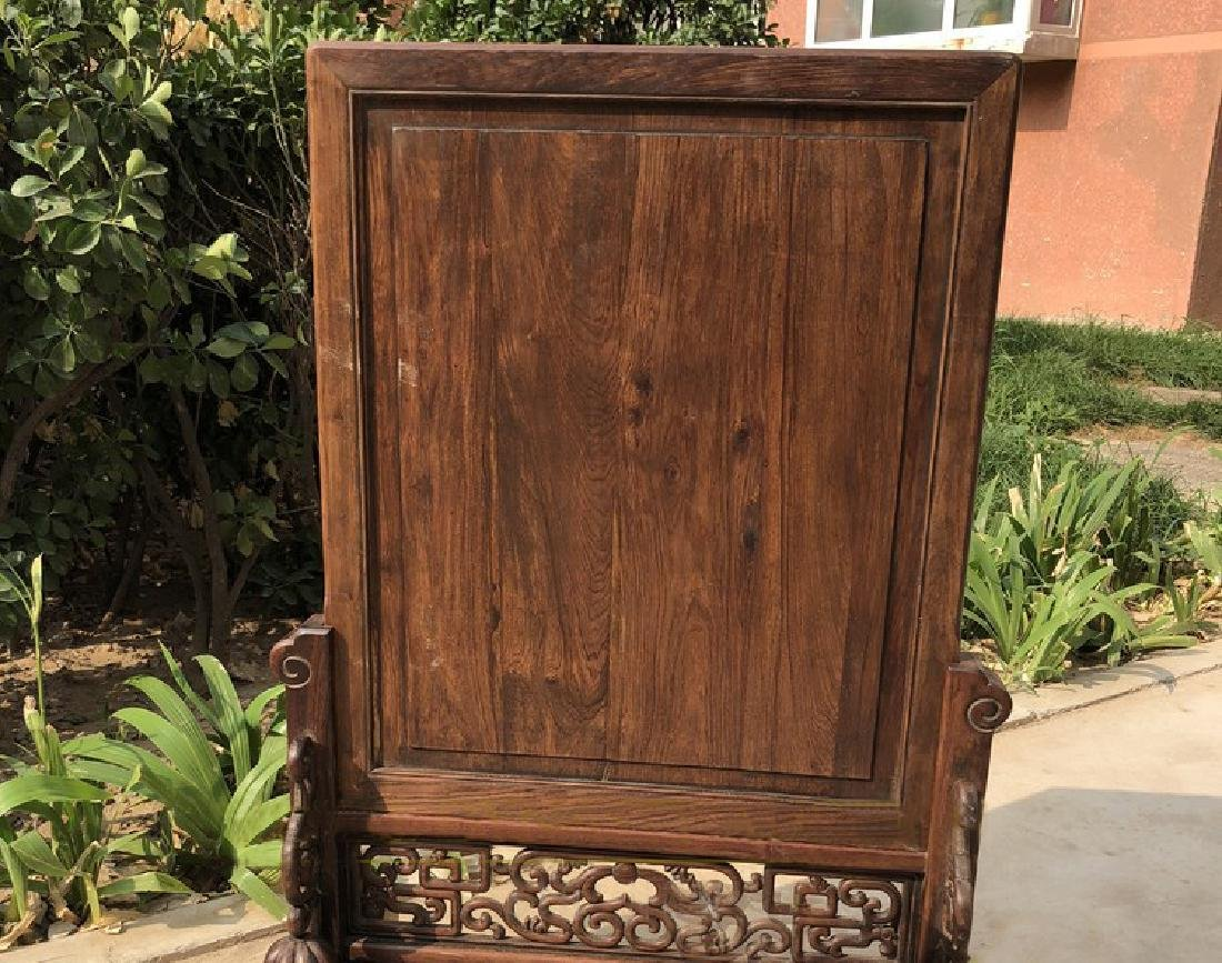 CHINESE QING DYNASTY HUANGHUALI WOOD CARVED SCREEN - 5