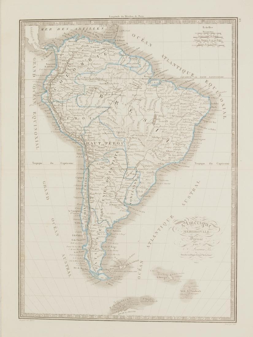 Map South America 1830 Lorraine Pere
