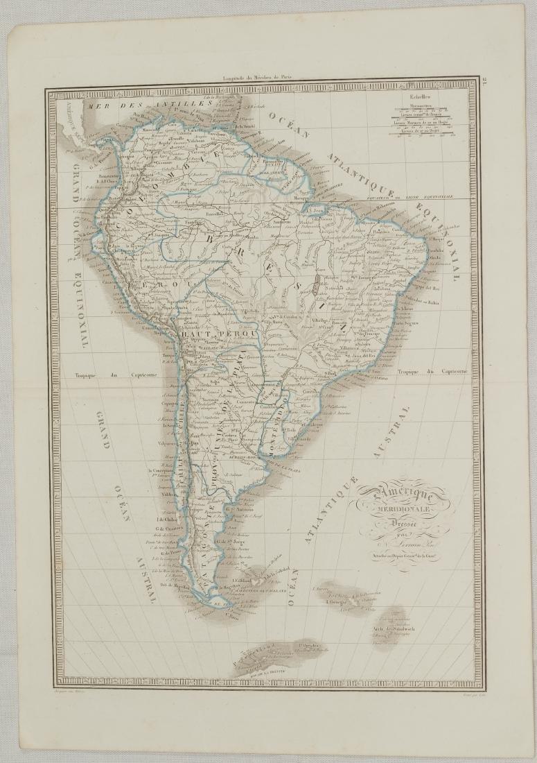 Map South America 1830 Lorraine Pere - 2