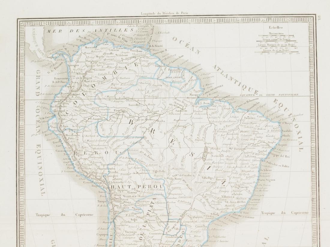Map South America 1830 Lorraine Pere - 3
