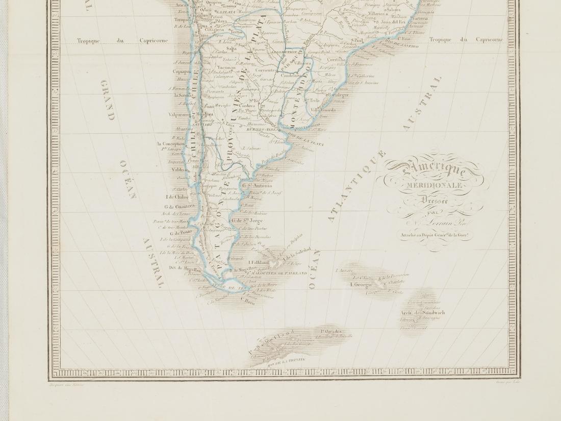 Map South America 1830 Lorraine Pere - 4
