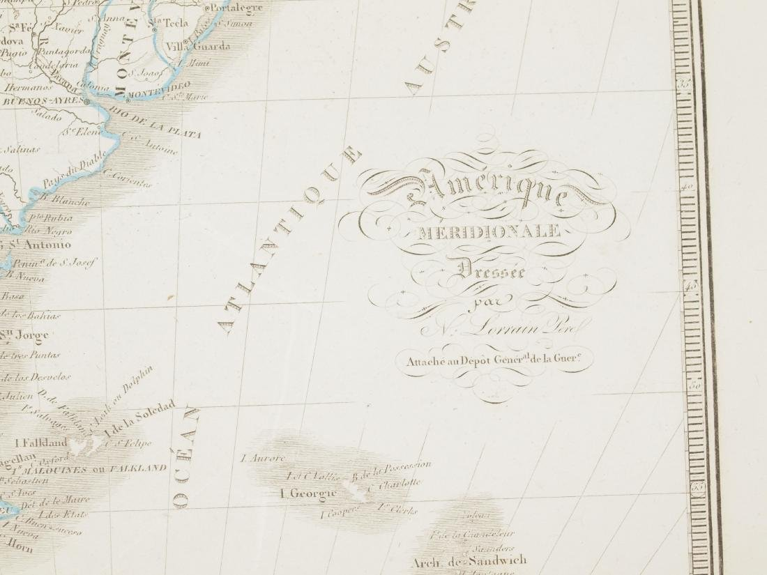 Map South America 1830 Lorraine Pere - 5
