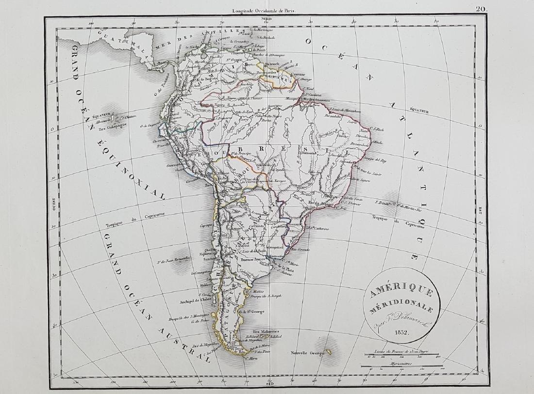 Map South America 1832 Delamarche