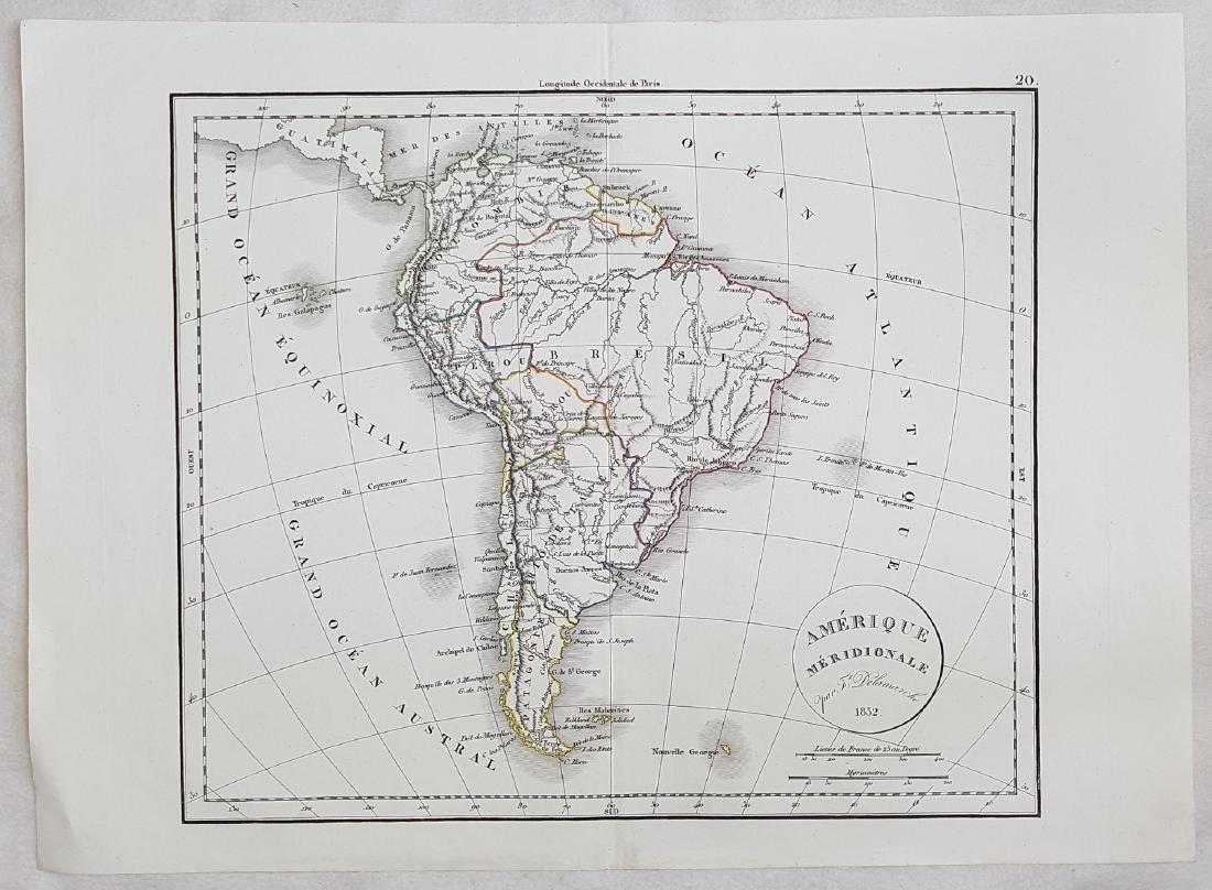 Map South America 1832 Delamarche - 2