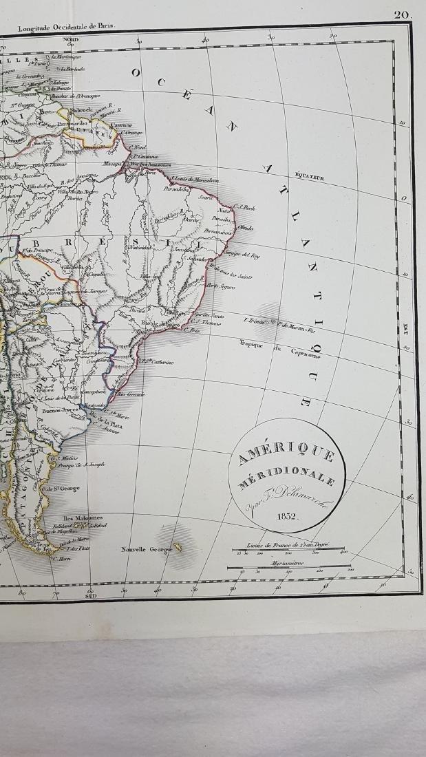 Map South America 1832 Delamarche - 3