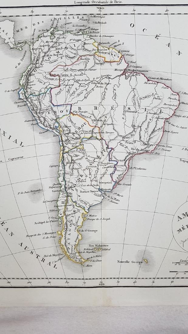 Map South America 1832 Delamarche - 4