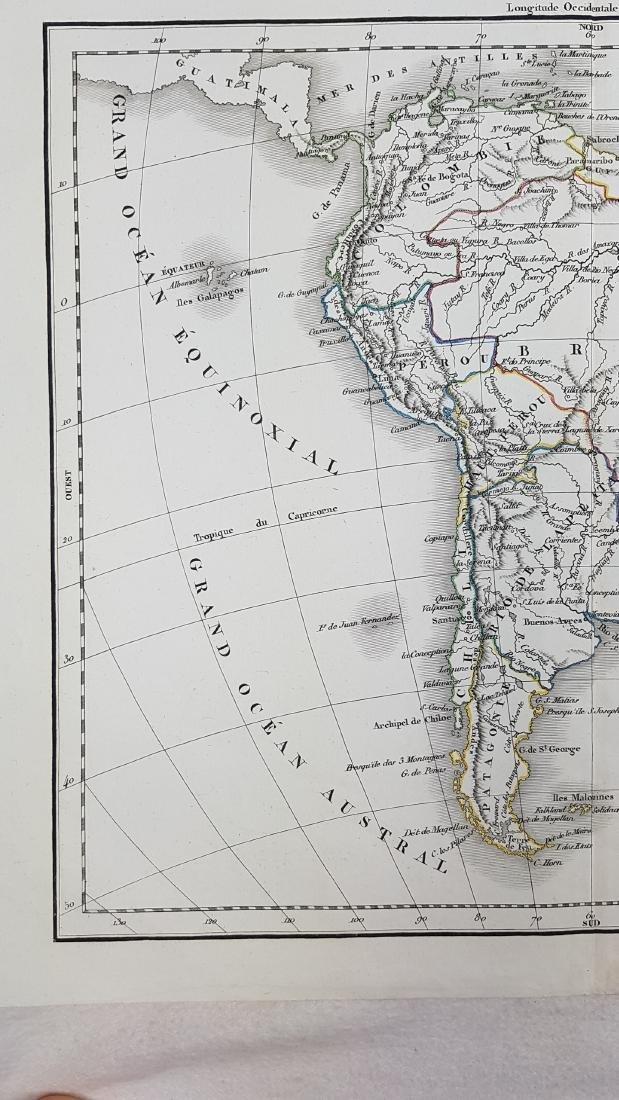 Map South America 1832 Delamarche - 5