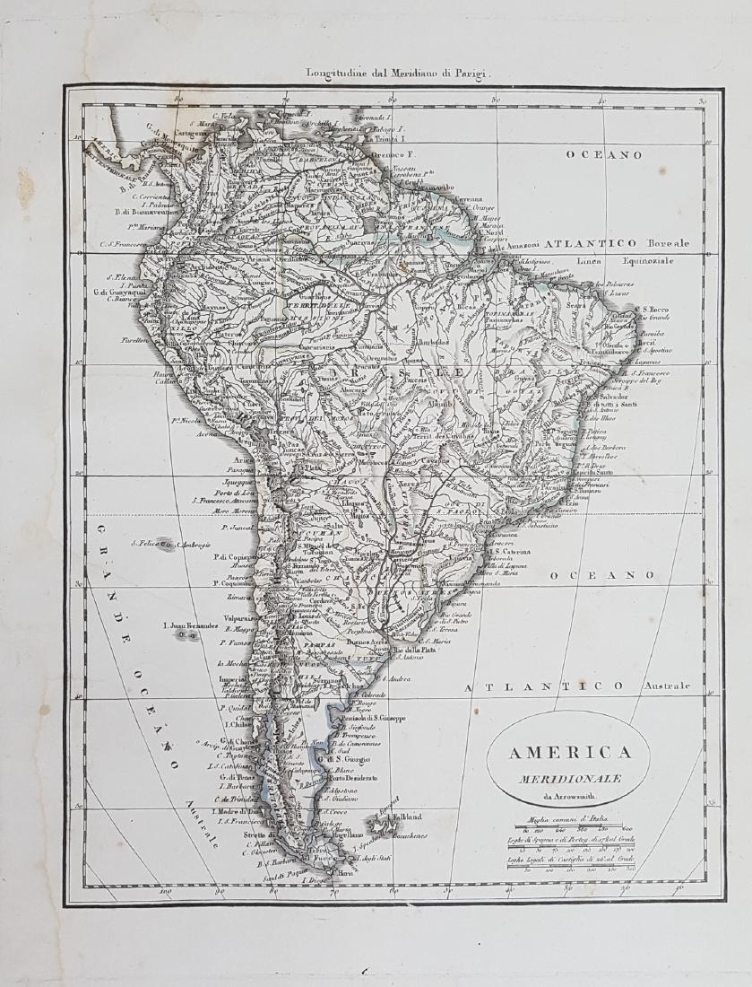 Map South America 1824 Arrowsmith
