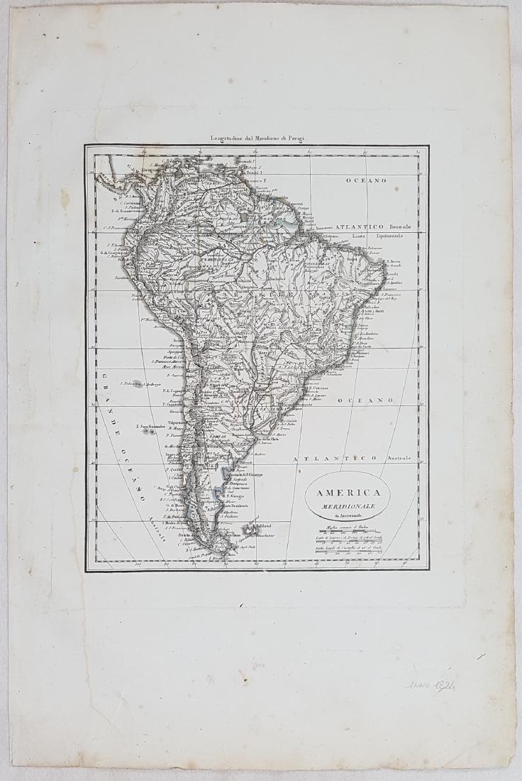 Map South America 1824 Arrowsmith - 2