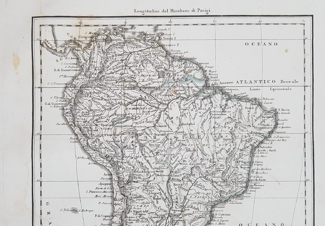 Map South America 1824 Arrowsmith - 3